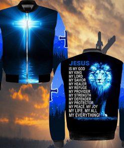 Jesus is my god my king my lord my savior my healer Lion 3D hoodie3