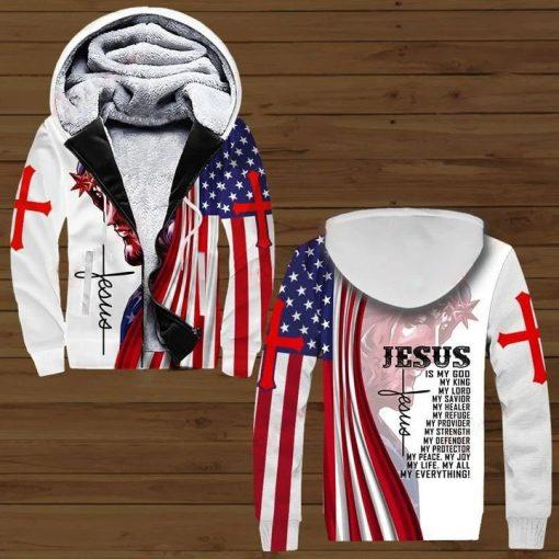Jesus is my god my king my lord my savior my healer my refuge 3D all over print hoodie2