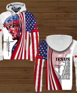 Jesus is my god my king my lord my savior my healer my refuge 3D all over print hoodie3
