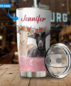 Just a girl who loves goats personalized tumbler1