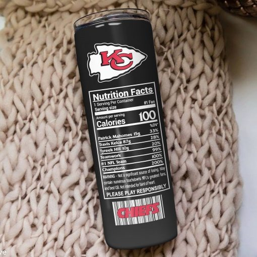 Kansas City Chiefs Monster Energy Skinny Tumbler 2