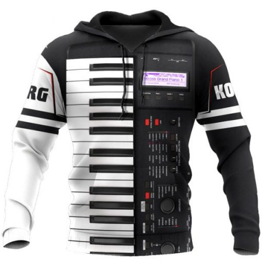 Korg Piano 3D All Over Printed Hoodie