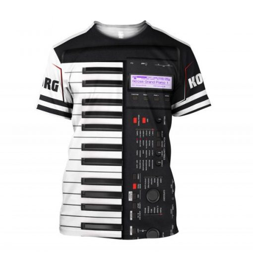 Korg Piano 3D All Over Printed shirt