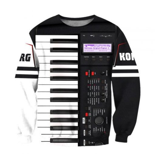 Korg Piano 3D All Over Printed sweatshirt