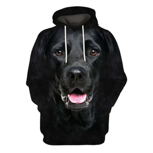 Labrador Retriever Black Dog 3D All Over Printed Hoodie