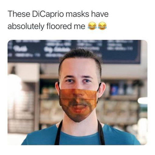 Leo Dicaprio Meme Face mask