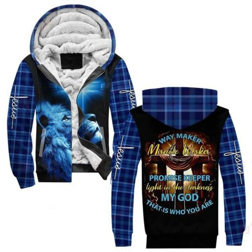 Lion Way maker miracle worker promise keeper Light in the darkness my god that is who you are 3D all over print hoodie3
