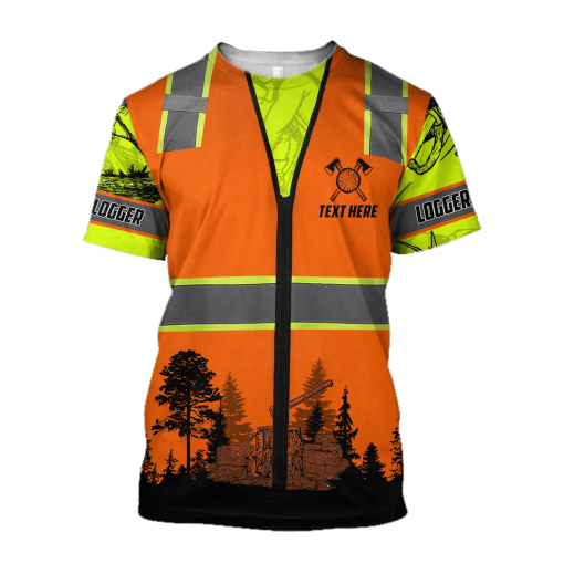 Logger Safety 3D all over printed shirt