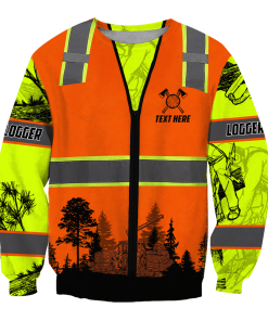 Logger Safety 3D all over printed sweatshirt
