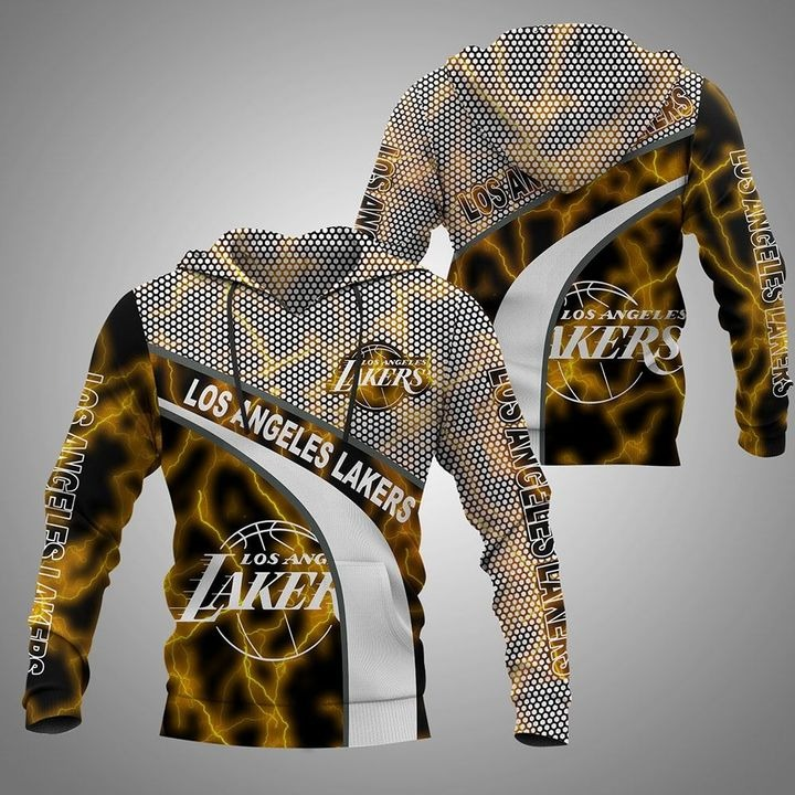 Los Angeles Lakers 3D all over printed hoodie