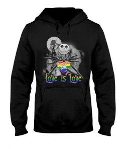 Love is love Jack Skellington Halloween LGBT hoodie