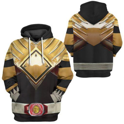 Mighty Morphin Black Power Rangers Custom 3D hoodie 2