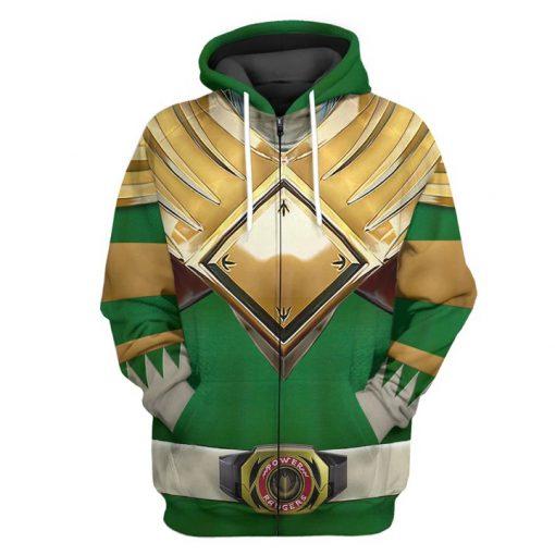 Mighty Morphin Green Power Rangers Custom 3D hoodie 1