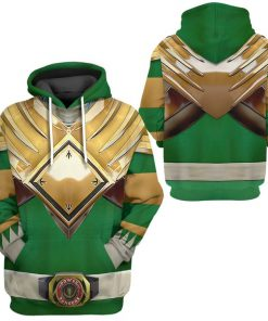 Mighty Morphin Green Power Rangers Custom 3D hoodie 2