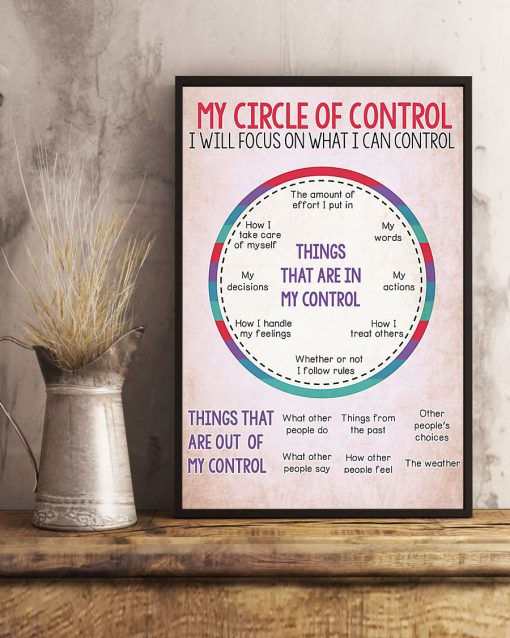 My circle of control I will focus on what I can control poster 2