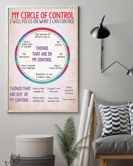 My circle of control I will focus on what I can control poster 3