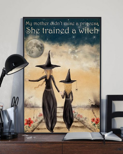 My mother didn't raise a princess she trained a witch poster 1