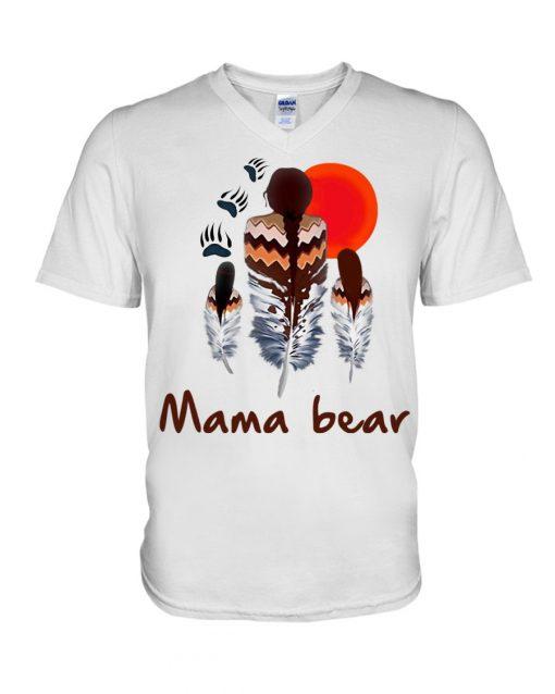 Native American Mama bear V-neck