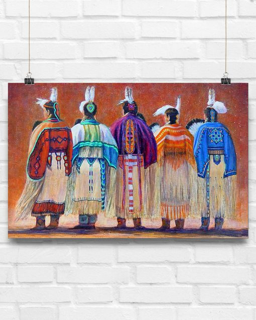 Native American Woman Painting Poster 2