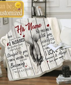 Once upon a time God blessed the broken road that led me straight to you personalized fleece blanket1