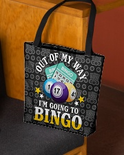 Out of my way I'm going to bingo tote bag 1
