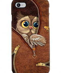 Owl as leather zipper phone case 7