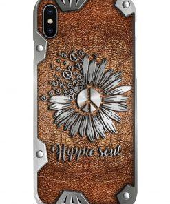 Peace Hippie Soul as Leather phone case