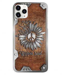 Peace Hippie Soul as Leather phone case1