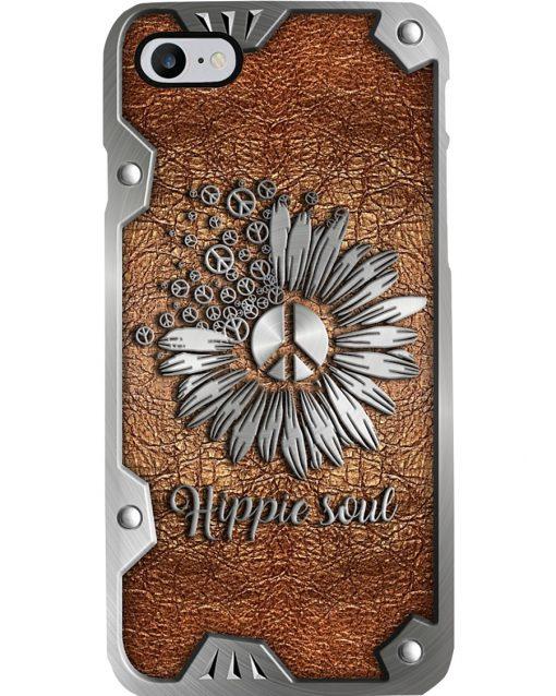 Peace Hippie Soul as Leather phone case2