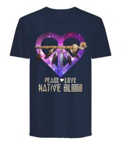 Peace Love Native Blood V-neck