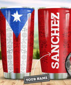 Personalized Puerto Rico Flag Tumbler