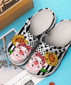 Pig Sunflower Crocs Crocband Clog