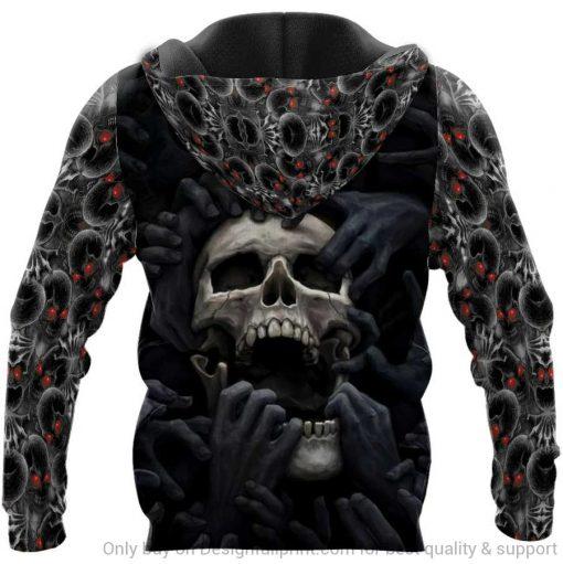 Red Eyes Screaming Skull Personalized 3D hoodie