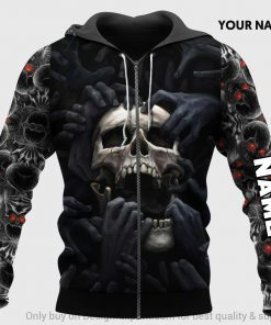 Red Eyes Screaming Skull Personalized 3D hoodie1