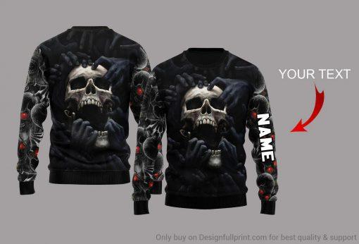 Red Eyes Screaming Skull Personalized 3D hoodie3
