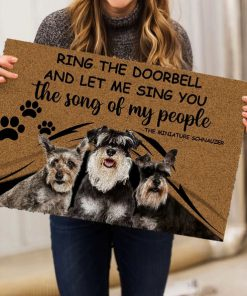 Ring The Doorbell And Let Me Sing You The Song Of My People Schnauzers Doormat