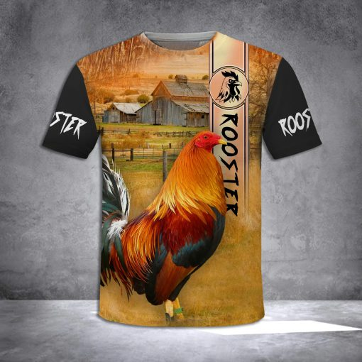 Rooster 3D All Over Printed shirt