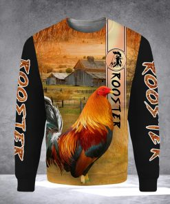 Rooster 3D All Over Printed sweatshirt