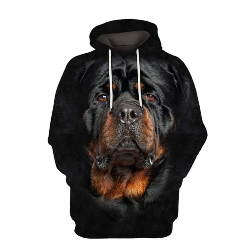 Rottweiler Dog 3D All Over Printed Hoodie
