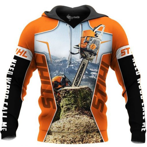 STIHL Chainsaw 3D All Over Printed Hoodie
