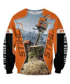 STIHL Chainsaw 3D All Over Printed sweatshirt