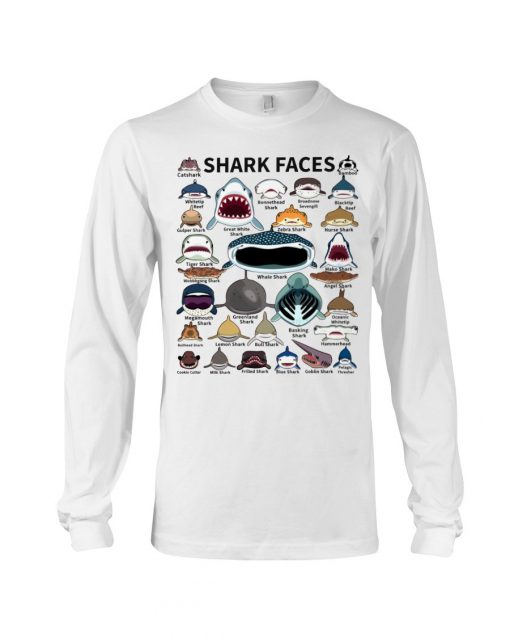 Shark Faces Long sleeve