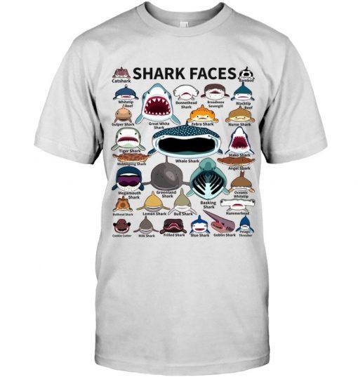 Shark faces Catshark Tiger shark Nurse Shark T-shirt