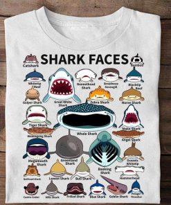 Shark faces Catshark Tiger shark Nurse Shark shirt