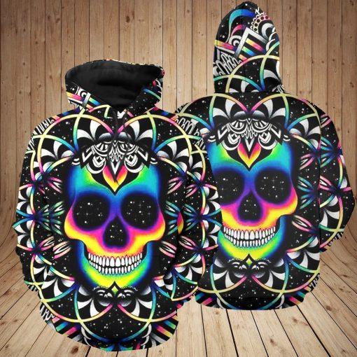 Skull Colorful 3D Hoodie