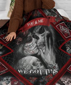 Skull Couples You and me We got this fleece blanket 1