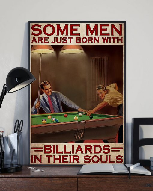 Some men are just born with billiards in their souls poster2