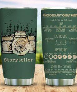 Storyteller camera photography cheat sheet tumbler 1