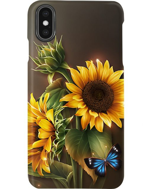 Sunflower Butterfly phone case x