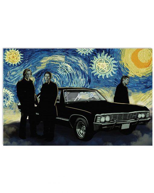 Supernatural Starry Night Van Gogh Poster